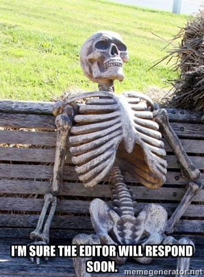 Skeleton on bench